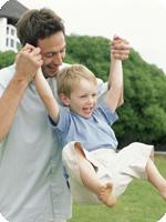 Healthier Family Son and Father