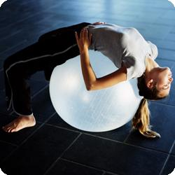 fitness exercise with ball
