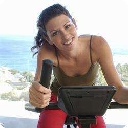 Fitness Level Woman and treadmil