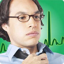 Stress monitor and heart attack