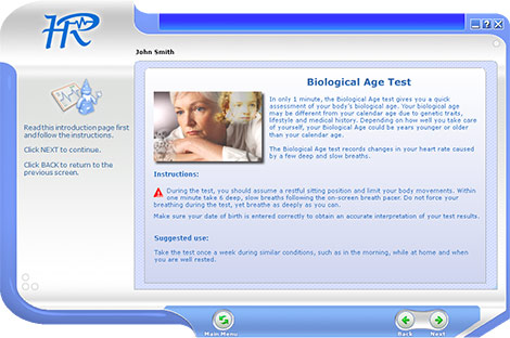 Biological Age Test Instructions